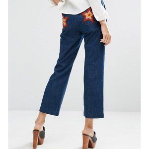 NWT M.i.h Coler Flare 70s Star Patch Pocket Jeans